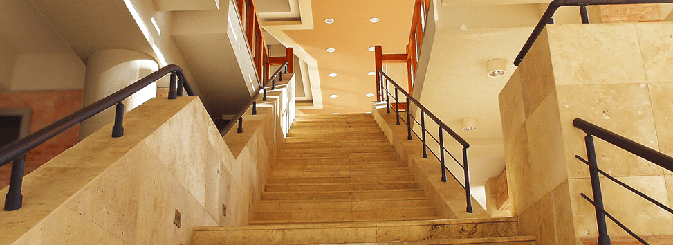 Contemporary stairway in an office building